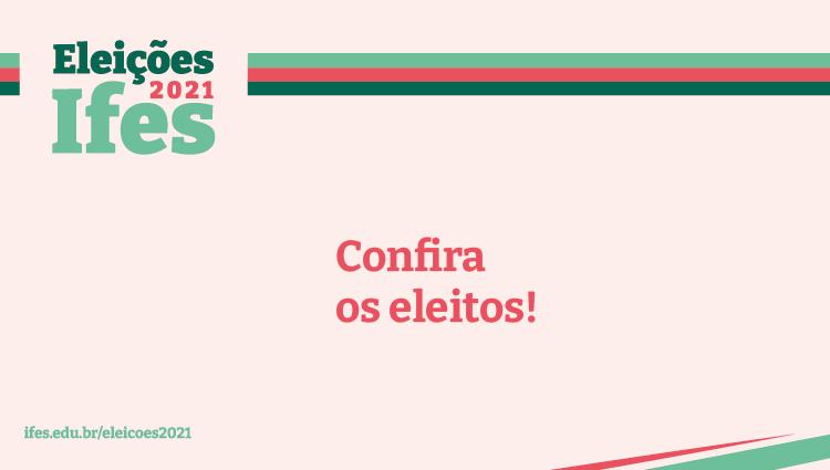 Resultado preliminar das eleições no Ifes - Campus São Mateus