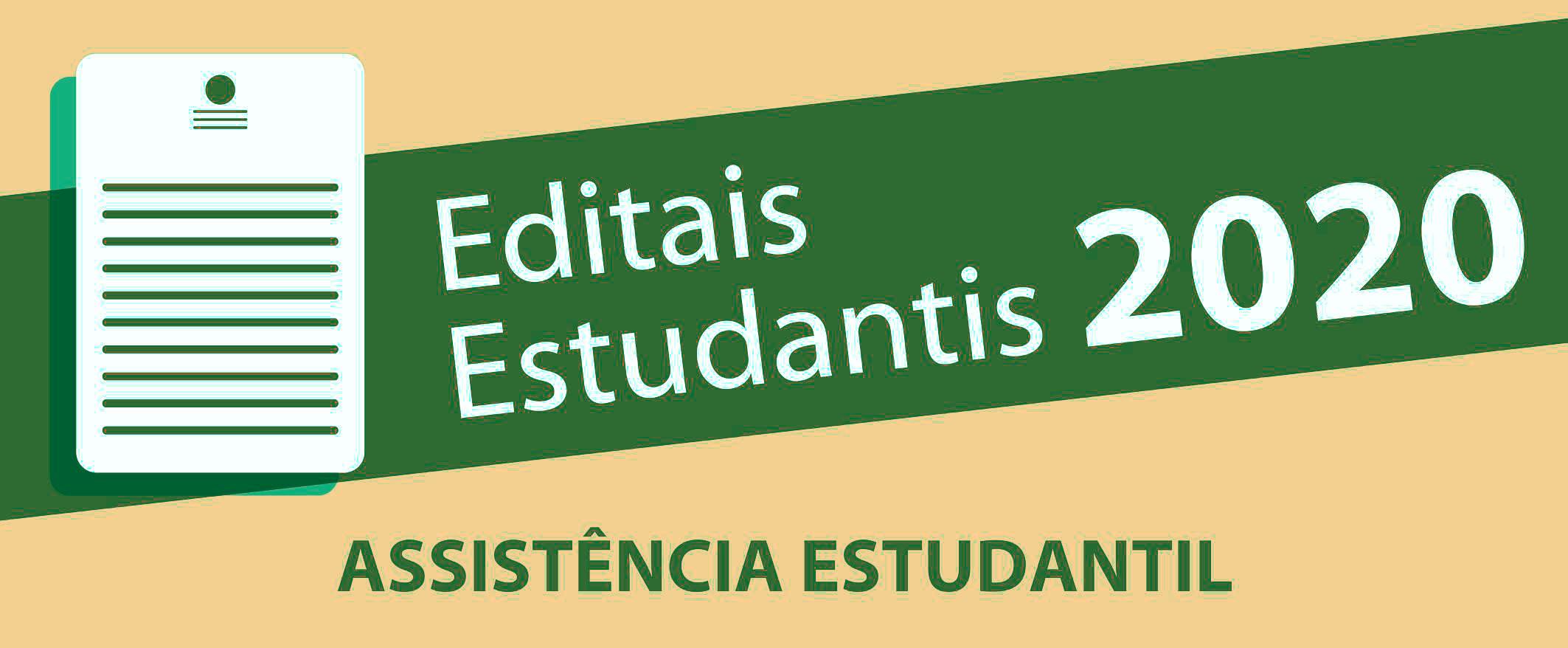 Editais estudantis 2020